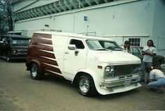 Custom chopped 70's Chevy van..vk