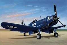The Chance Vought F4U Corsair was a carrier-capable fighter aircraft that saw service primarily in World War II and the Korean War.