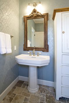 powder bath by design house houston tx damask wallpaper dalles stone floor - Bathroom Design Houston