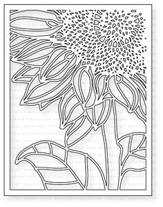 $16.00 Papertrey Ink - Cover Plate: Sunflower Die: Papertreyink