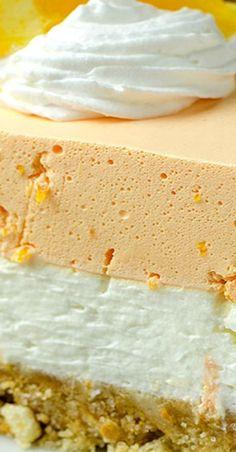 No Bake Summer Orange Creamsicle Cheesecake