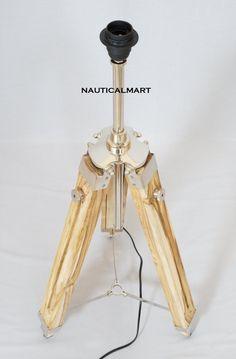 NauticalMart Timber Tripod Telescope Lamp Stand: Amazon.co.uk: Lighting #LampPied