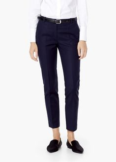 Cotton trousers - Trousers for Women | MANGO
