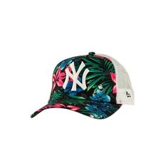 7e28c1bc8f New Era New York Yankees Tropical All Over Print Trucker Snapback Cap -  Unisexe Casquettes (