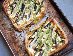 Easy Goat Cheese and Green Onion Tart