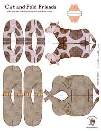 free printable cut and fold animal friends  http://www.thetoymaker.com/Toypages/49Animals/49Animals.html#