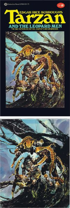 NEAL ADAMS - Tarzan and the Leopard Men (Tarzan 18) by Edgar Rice Burroughs - 1975 Ballantine Books - print/cover by catspawdynamics.com