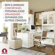 As características listadas na foto são indispensáveis no home office para o rendimento não cair ao trabalhar em casa.