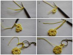 Häkelanleitung 'Blume' Schlüsselanhänger oder Taschenbäumler