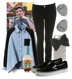 """Nathan Sykes Timesquare"" by ja1decrazymofo ❤ liked on Polyvore featuring Miss Selfridge, Alice + Olivia, Ray-Ban, Fan, CasualChic, fangirl, nathan and sykes"