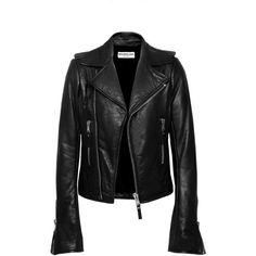 Balenciaga Classic Biker Jacket ($2,745) ❤ liked on Polyvore featuring outerwear, jackets, pocket jacket, moto jacket, structure jacket, balenciaga and blouson jacket
