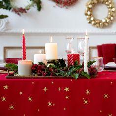 Nappe et serviettes coton rouge imprimé étoiles - Table - Nöel | Zara Home France
