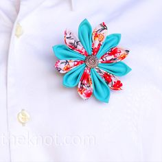 Boutonniere - made from fabric, could change the color/texture to match jaimies colors.