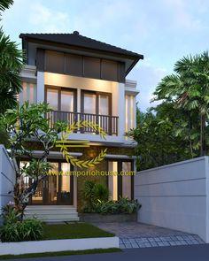 Desain Rumah 2 Lantai 4 kamar Lebar Tanah 6 meter dengan ukuran Tanah 1 are/100m2