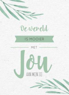 Trouwkaart met quote in bohemian stijl.