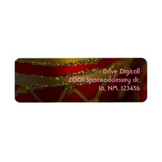 Christmas Ornament 5 Custom Return Address Labels from Florals by Fred #zazzle #gift #Christmas