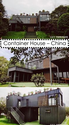 Heisä Container House – China What you need to remember when you are using a landsca Container Van House, Cargo Container Homes, Storage Container Homes, Building A Container Home, Container Buildings, Container Architecture, Sustainable Architecture, Container Store, Shipping Container Home Designs