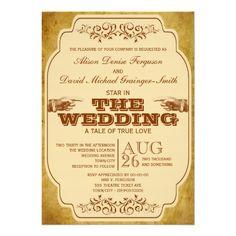 Vintage Hochzeits-Theater-Produktion Personalisierte Ankündigung
