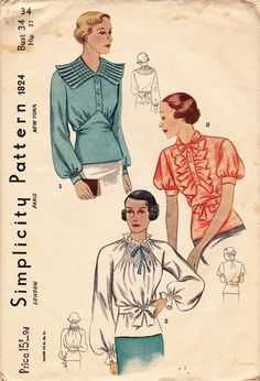 1930s blouses