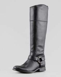 Melissa Harness Riding Extended Calf Boot, Black by Frye at Neiman Marcus.