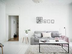 Refrescar una decoración con el color blanco pisos suecos estilo nórdico…