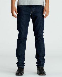 Stone-Wash Selvedge Denim Jeans, Blue  by Alexander McQueen at Bergdorf Goodman.