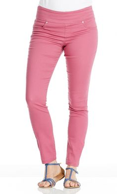 $10 pink jeggins @ Crossroads. I love this shop!                I bought two gorgeous tops there yesterday 10/3/14 for $15 and a black tube skirt for $10. I needed a black skirt, I will get SO MUCH wear out of it in all seasons - just add tights in winter!