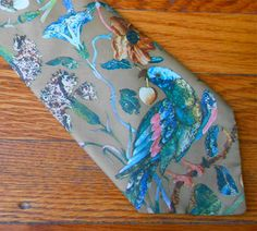 Psychedelic Dove of Peace Floral Acid Trip Tie by MDMvintage, $18.00