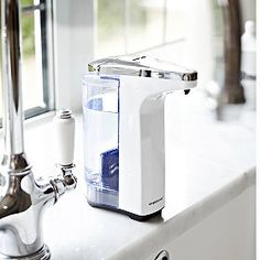 simplehuman-Compact-White-Sensor-Pump- from Lakeland