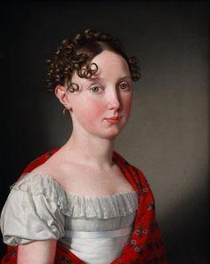 Christoffer Wilhelm Eckersberg (1783-1853) — Portrait of Ida Mariane Brockenhuus
