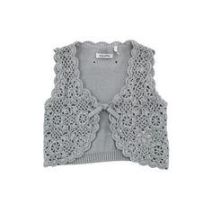 IKKS, baby girls clothing - Crochet knit vest ($51) found on Polyvore