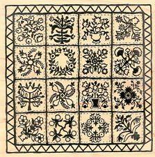 william morris applique patterns | new pretty psx applique antique botanical flower sampler quilt rubber