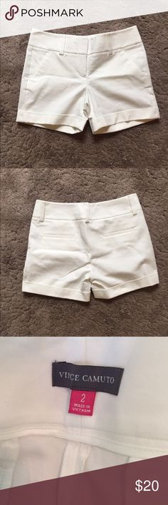 White Vince Camuto shorts Used but absolutely nothing wrong with them!! Vince Camuto Shorts