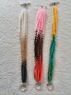 Graduated color - cambio de color graduado #handmade #jewelry #beading #bracelet