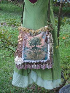 #Tree of Life Tapestry Bag #Bohemian Gypsy Carpet Bag  by NanasSunshine,