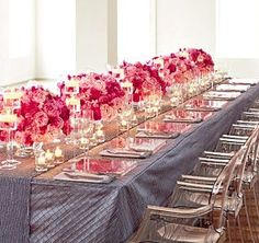 Looking for something totally different and stumbled across this great tablescape!  <3 <3 <3 the floral arrangements!