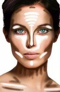 Maquillaje de noche para cara redonda