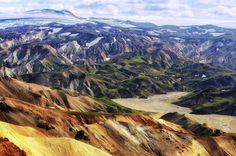 Fjallabak i Landmannalaugar na Islandii - kolorowe góry i gorące źródła