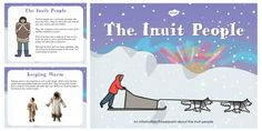 Perfect for whole-class teaching, this PowerPoint features some information to help support your teaching on the Inuit. The resource includes information on their towns, igloos, how they keep warm and more. Aboriginal Education, Indigenous Education, Art Education, Primary Resources, Teacher Resources, National Aboriginal Day, Indigenous People Of Canada, Native American Lessons, Learning Websites For Kids