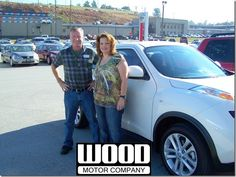 Here is Pam McIntire, of Branson, Missouri, with her new 2013 Nissan Juke S FWD. September, 2013.