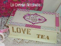 Caja de té en patchwork
