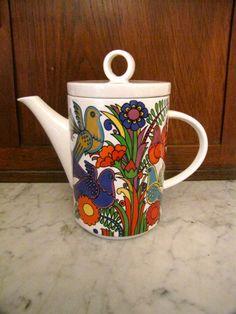 1980s Porcelain Villeroy & Boch Teapot by VieuxOaklandVintage,