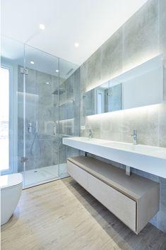 Bathroom Lighting, Bathtub, Mirror, Furniture, Madrid, Home Decor, Templates, Modular Housing, House Building
