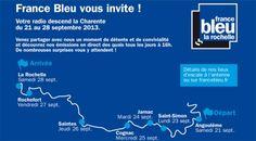 France Bleu La Rochelle descend la Charente en bateau. Du 21 au 28 septembre 2013 à Rochefort.