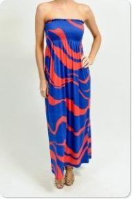 Royal Blue & Rojo Maxi Dress $68 @ Mapel Boutique http://www.shopmapel.com/products.html?productId=27284