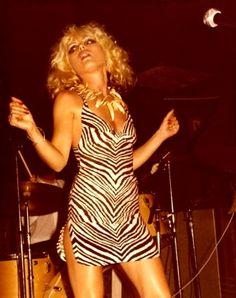 Debbie Harry on stage.