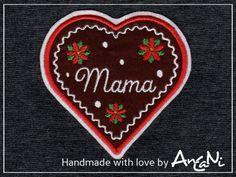 Aufnäher - Aufnäher Lebkuchenherz Weihnachten ♥ Wunschname - ein Designerstück von AnCaNi bei DaWanda