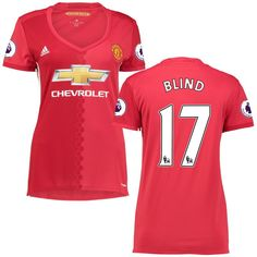Daley Blind Manchester United adidas Women's 2016/17 Replica Home Jersey - Red