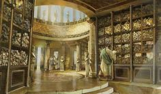 Image result for library of alexandria painting