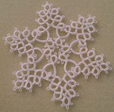 "Tatted Snowflake Patterns | ... my latest snowflakes. One is motif #6 from ""Festive Tatting"" by DMC"
